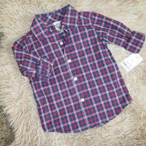 NWT Boys 18 M Carter's Button-Down Shirt